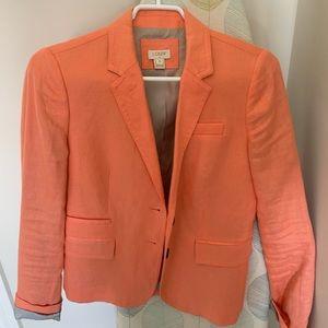 Beautiful Jcrew linen coral blazer .
